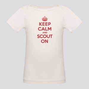 Keep Calm Scout Organic Baby T-Shirt